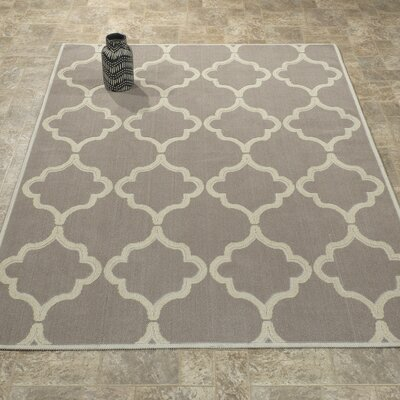Bernadette Nature Cotton Gray Area Rug Rug Size: 4 8 x 6 7