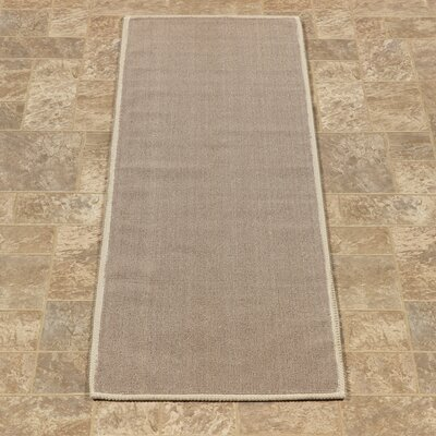 Taelyn Nature Cotton Solid Light Brown Area Rug Rug Size: Runner 18 x 411