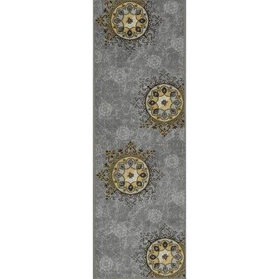Deidra Floral Gray Area Rug Rug Size: Runner 18 x 411