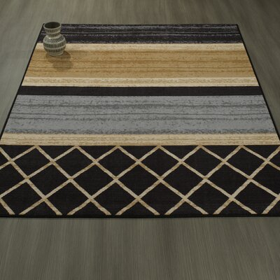 Tailynn MultiLayered Gray/Cream/Brown Area Rug Rug Size: 33 x 5