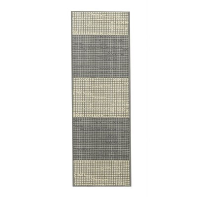Vathylakas Layered Gray/Beige Area Rug Rug Size: Runner 18 x 411