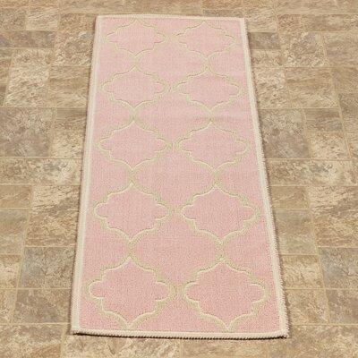 Bersum Nature Cotton Pink Area Rug Rug Size: Runner 18 x 411