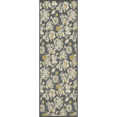 Tailynn Floral Gray/Cream Area Rug Rug Size: 33 x 5