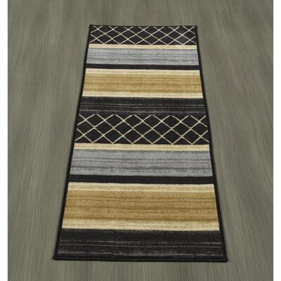 Tailynn MultiLayered Gray/Cream/Black Area Rug Rug Size: 33 x 5