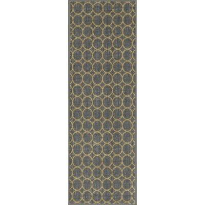 Vathylakas Circles Gray Area Rug Rug Size: 33 x 5