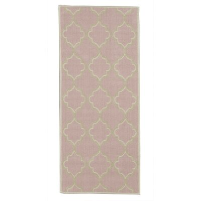 Bernadette Nature Cotton Pink Area Rug Rug Size: Runner 27 x 6