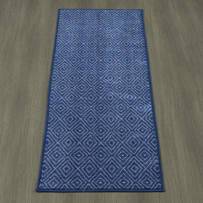 Heikkinen Diamonds Blue Area Rug Rug Size: Runner 18 x 411