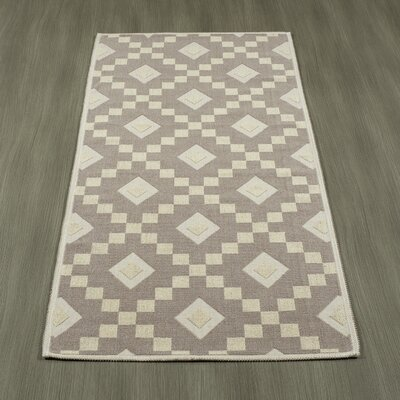 Heim Nature Cotton Diamond Trellis Brown/Cream Area Rug Rug Size: Runner 18 x 411