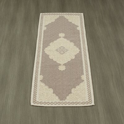 Kamila Nature Cotton Beige/Gray Area Rug Rug Size: 4' 8