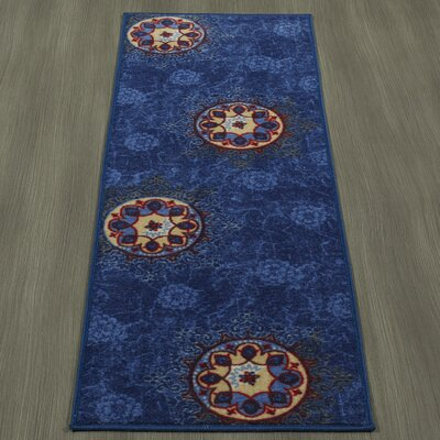 Rocio Floral Blue Area Rug Rug Size: Runner 18 x 411
