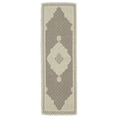 Kamila Nature Cotton Beige/Gray Area Rug Rug Size: Runner 18 x 411