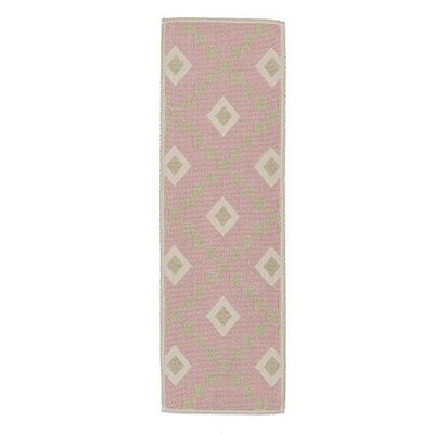 Heim Nature Cotton Diamond Pink Area Rug Rug Size: Runner 18 x 411