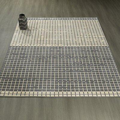 Heikkinen Layered Gray Area Rug Rug Size: 5 x 6