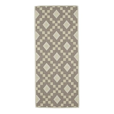 Heim Nature Cotton Diamond Trellis Gray Area Rug Rug Size: 2'7