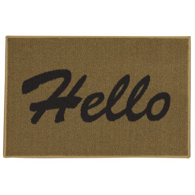 Castor Rectangular Hello Doormat