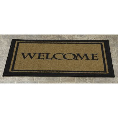 Higby Rectangular Welcome Bordered Doormat