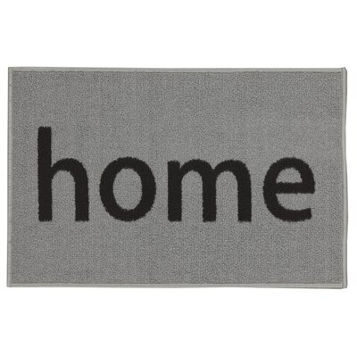 Charboneau Rectangular Home Doormat Color: Gray/Black