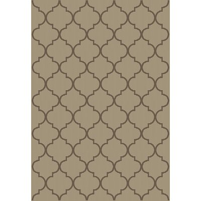 Emma Trellis Power Loom Beige Indoor/Outdoor Area Rug Rug Size: 27 X 70