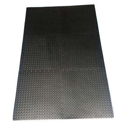 Multipurpose Anti-Fatigue EVA Foam Puzzle Floor Mat Color: Black EFM-24-Black
