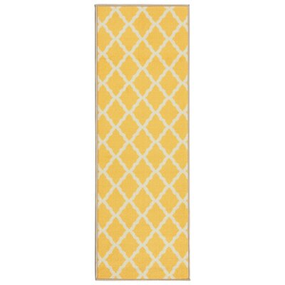 Staunton Yellow Area Rug Rug Size: Runner 22 x 6