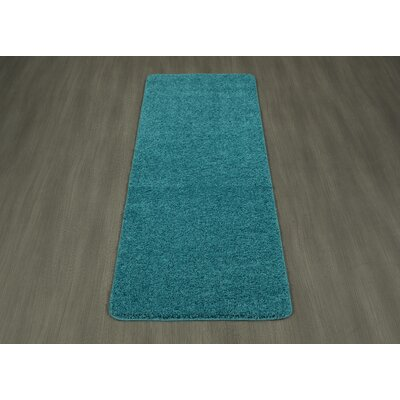 Luxury Blue Area Rug Rug Size: 33 x 5