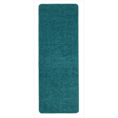 Luxury Blue Area Rug Rug Size: Runner 2 x 6