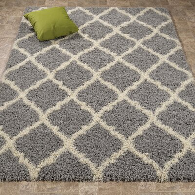 Radford Gray Shaggy Area Rug Rug Size: Rectangle 33 x 47