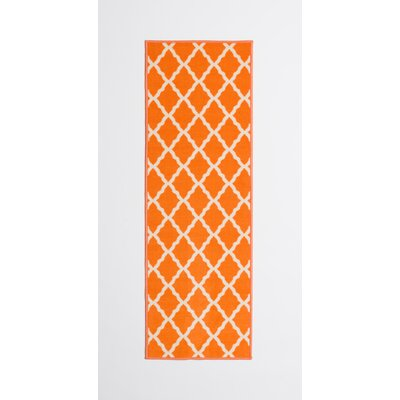 Staunton Orange Area Rug Rug Size: Runner 22 x 6