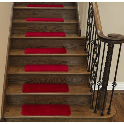 Stair Tread Quantity: Set of 7, Color: Red