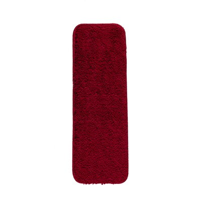 Soft Solid Non-Slip Shag Carpet Red Stair Tread