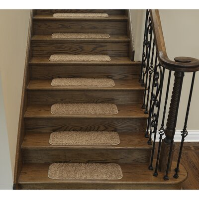 Stair Tread Quantity: Set of 7, Color: Brown