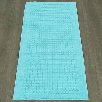 Turkish Heavyweight Cotton Bath Rug Color: Aqua