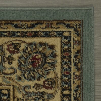 Royal Blue/Brown Area Rug Rug Size: Rectangle 53 x 7