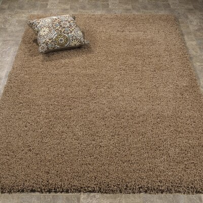 Ultimate Shaggy Soft Cozy Beige Area Rug Rug Size: Rectangle 53 x 7
