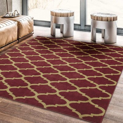 Royal Red Area Rug Size: Rectangle 53 x 7