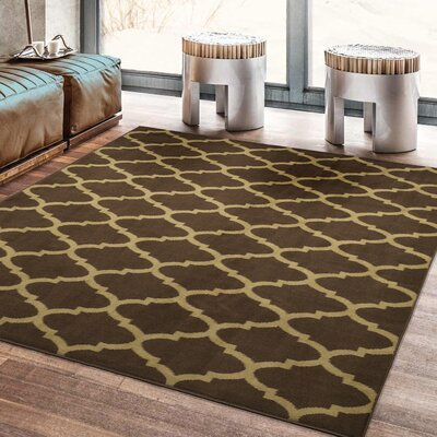 Royal Brown Area Rug Rug Size: Rectangle 710 x 910