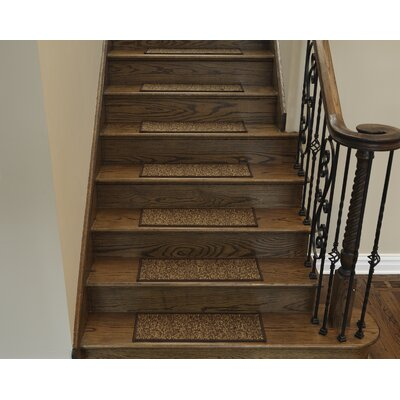 Escalier Brown Contemporary Solid Design Stair Tread Size: 8.5 x 22.5