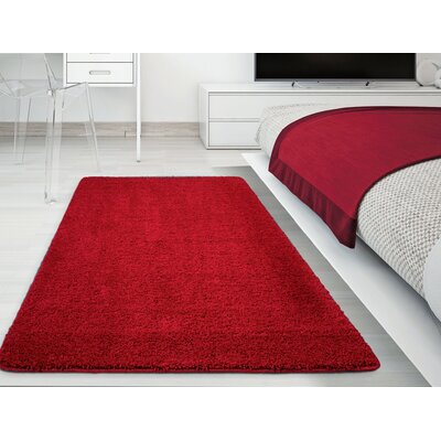 Luxury Red Area Rug Rug Size: Rectangle 5 x 7