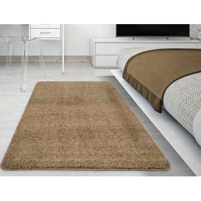 Luxury Camel Area Rug Rug Size: 33 x 5