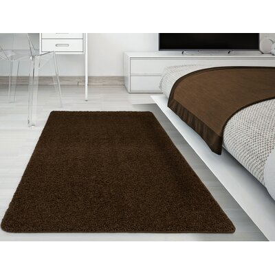 Luxury Brown Area Rug Rug Size: Rectangle 5 x 7