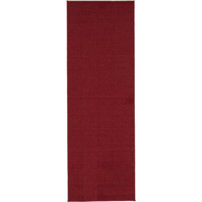 Red Area Rug Rug Size: Runner 110 x 12