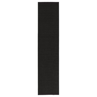 Black Area Rug Rug Size: Runner 18 x 411