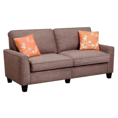 Serta RTA Astoria 73 Sofa Upholstery: Church Brick Tan