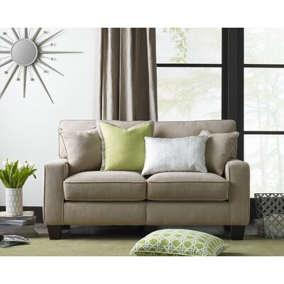 Palisades 61 Loveseat Upholstery: Silica Sand