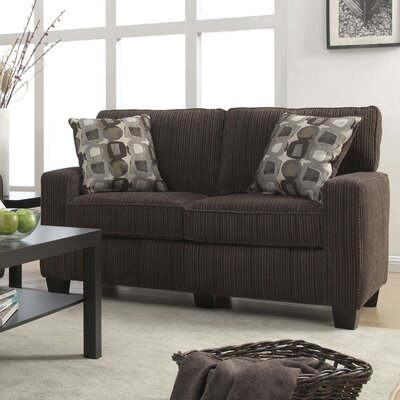 Palisades 61 Loveseat Upholstery: Riverfront Brown