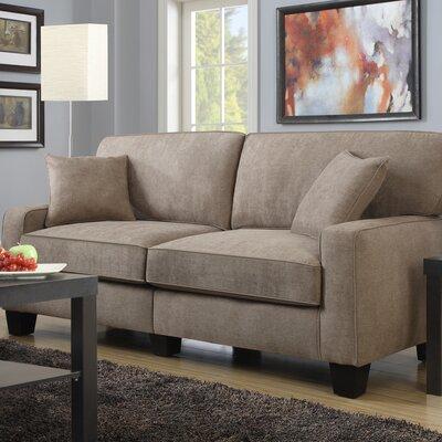 Serta� RTA Palisades 78 Sofa Upholstery: Fawn Tan