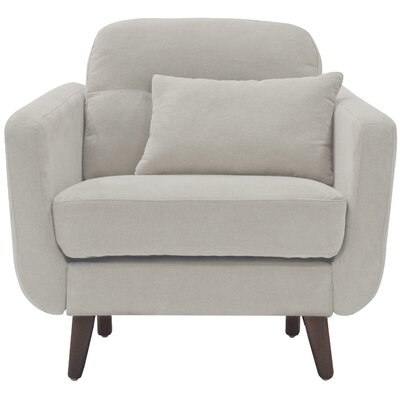 Sierra Armchair Color: Ivory