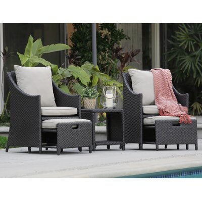 Laguna 22 5 Piece Deep Seating Group with Cushion