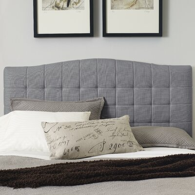 Luna Upholstered Panel Headboard Color: Ash Gray, Size: King