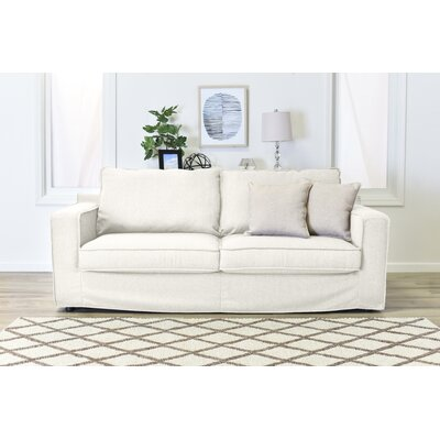 Colton Slipcover Sofa Upholstery: Cream